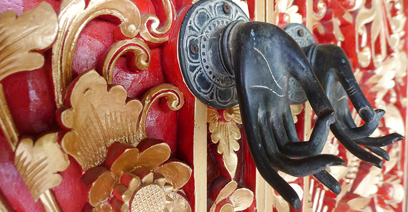Detailed door handle to the Prada Suite - Villa Wastra